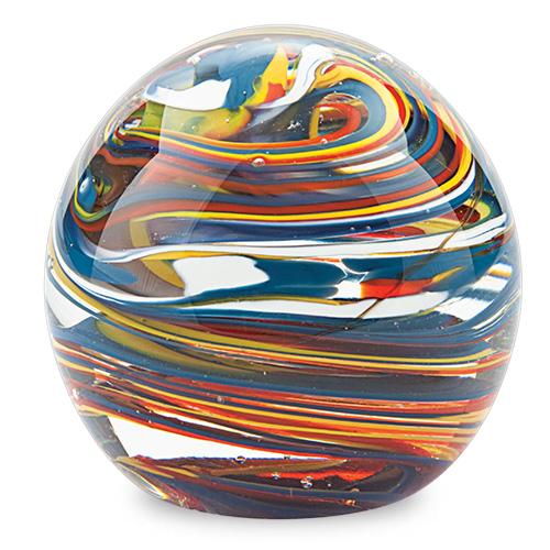 Medium Round Paperweight Malta,Glass Paperweights Malta, Glass Paperweights, Mdina Glass