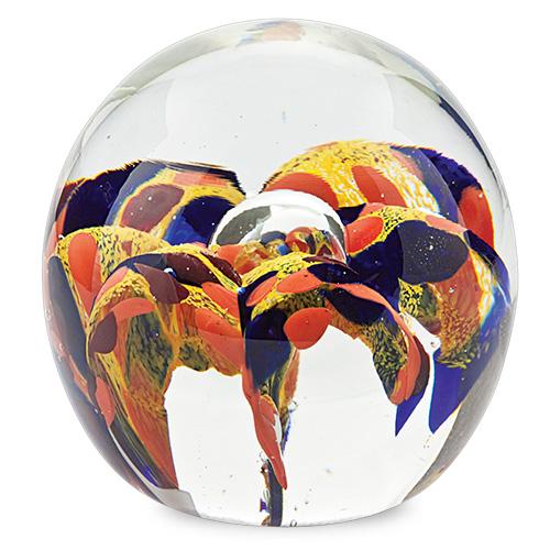 Medium Round Flower Paperweight Malta,Glass Paperweights Malta, Glass Paperweights, Mdina Glass