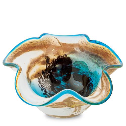 Seascape Small Star Bowl Malta,Glass Decorative Bowls Malta, Glass Decorative Bowls, Mdina Glass