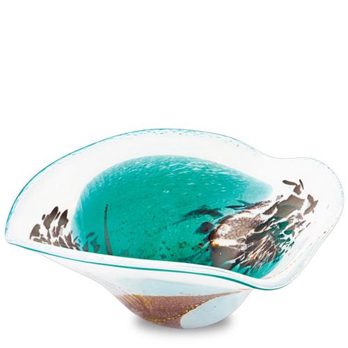 Seascape Large Tri Bowl Malta,Glass Seascape Malta, Glass Seascape, Mdina Glass