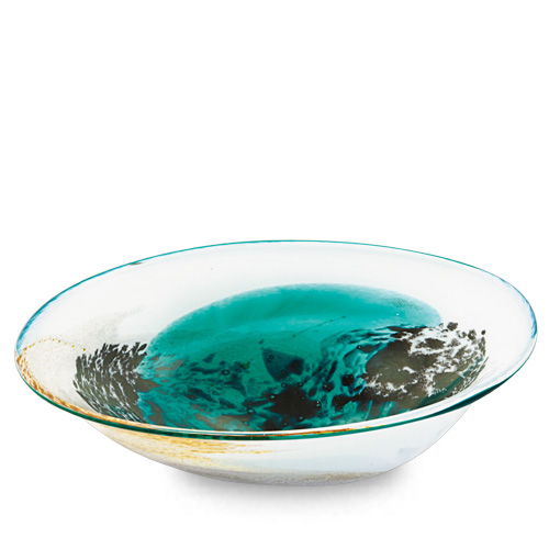 Seascape Medium Orbit Bowl Malta,Glass Seascape Malta, Glass Seascape, Mdina Glass