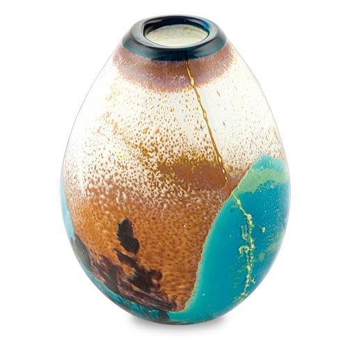 Seascape Miniature Dimi Vase Malta,Glass Seascape Malta, Glass Seascape, Mdina Glass