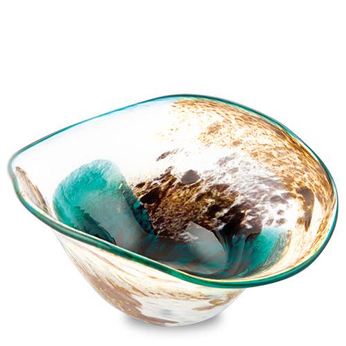 Seascape Miniature Moon Bowl Malta,Glass Seascape Malta, Glass Seascape, Mdina Glass