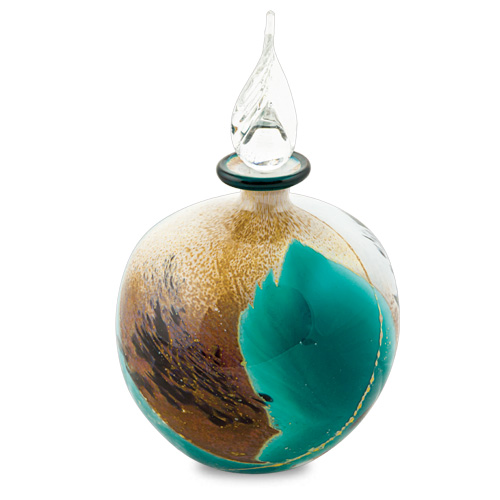 Seascape Miniature Round Perfume Malta,Glass Seascape Malta, Glass Seascape, Mdina Glass
