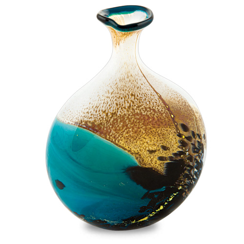 Seascape Miniature Lollipop Bottle Vase Malta,Glass Seascape Malta, Glass Seascape, Mdina Glass