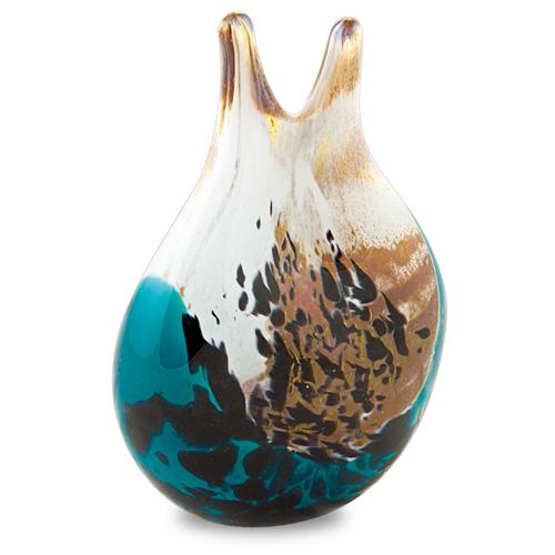 Seascape Double Neck Vase Malta,Glass Seascape Malta, Glass Seascape, Mdina Glass