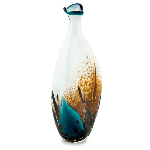 Seascape Miniature Tri Bottle Malta,Glass Seascape Malta, Glass Seascape, Mdina Glass