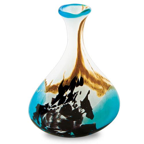 Seascape Miniature Tri Vase Malta,Glass Seascape Malta, Glass Seascape, Mdina Glass