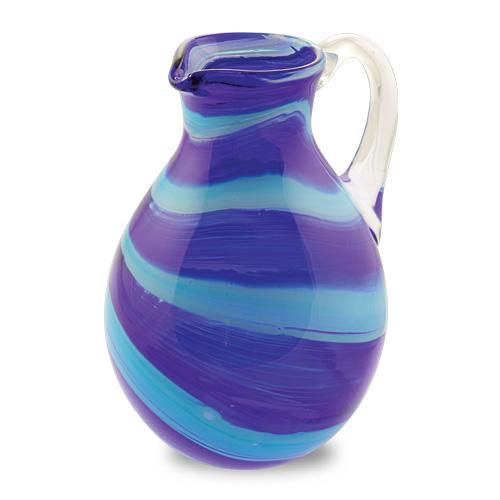 Malta,  Malta, Turquoise & Cobalt Blue Round Jug Malta, Lifestyle Malta, Mdina Glass Malta