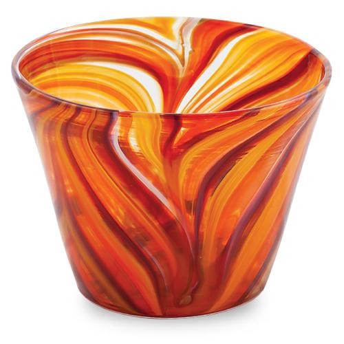 Oranges & Reds Round Flower Pot 1