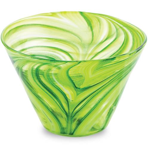Green Round Flower Pot 2 Malta,Glass Flower Pots Malta, Glass Flower Pots, Mdina Glass