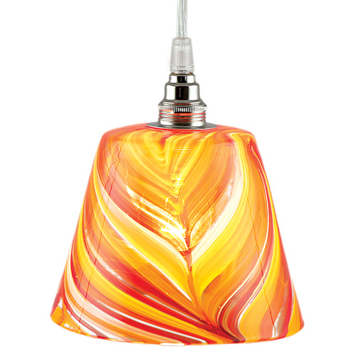 Hanging Pot Light No.1 Malta,Glass Lighting Malta, Glass Lighting, Mdina Glass