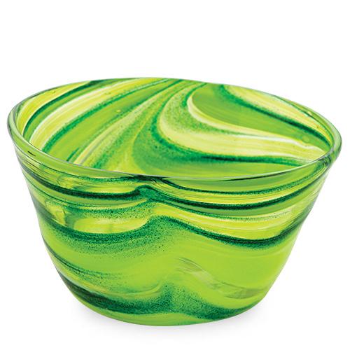 Green Ice-Cream Bowl Malta,Glass Serving Bowls Malta, Glass Serving Bowls, Mdina Glass