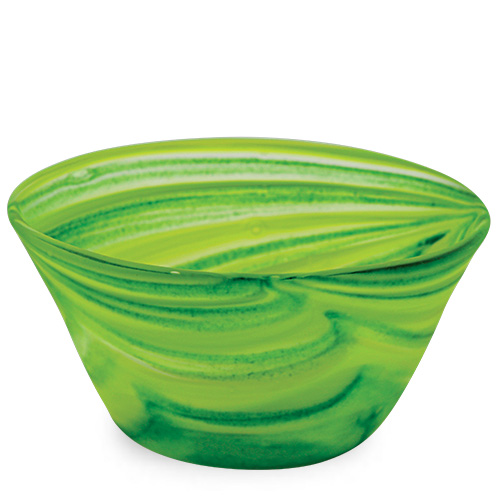 Green Frosted Ice-Cream Bowl Malta,Glass Serving Bowls Malta, Glass Serving Bowls, Mdina Glass