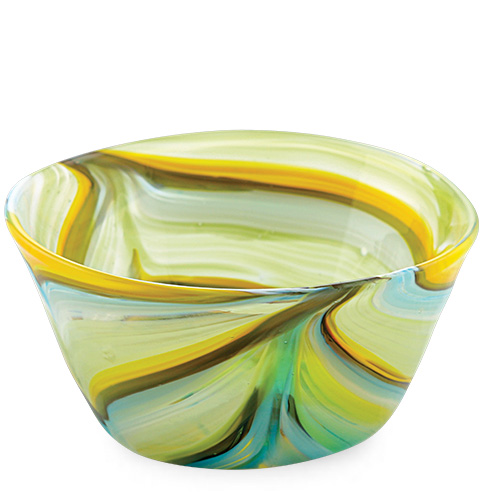 Malta,  Malta, Turquoise with Yellow & Green Ice-Cream Bowl Malta, Lifestyle Malta, Mdina Glass Malta
