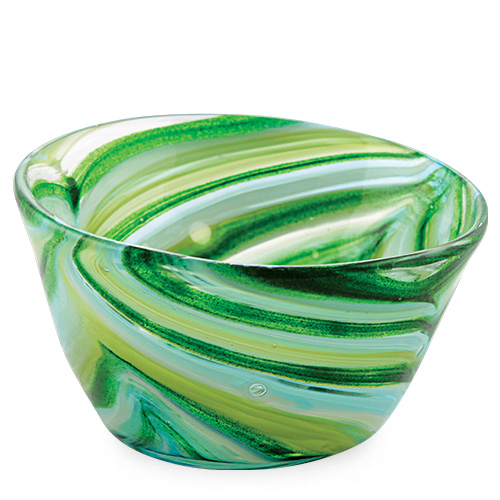 Turquoise & Greens Ice-Cream Bowl Malta,Glass Serving Bowls Malta, Glass Serving Bowls, Mdina Glass