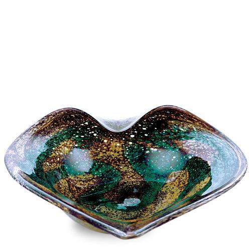 Marble Medium Leaf Bowl Malta,Glass Marble Malta, Glass Marble, Mdina Glass