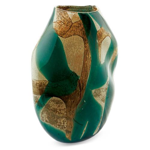 Marble Medium Double Swirl Vase Malta,Glass Marble Malta, Glass Marble, Mdina Glass