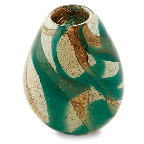 Marble Miniature Dimi Vase Malta,Glass Marble Malta, Glass Marble, Mdina Glass