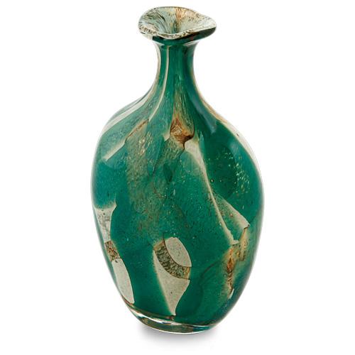 Marble Miniature Flat Barrel Bottle Open Top Malta,Glass Marble Malta, Glass Marble, Mdina Glass