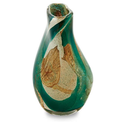Marble Miniature Tall Double Swirl Vase Malta,Glass Marble Malta, Glass Marble, Mdina Glass