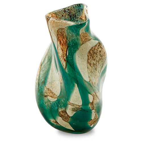 Marble Miniature Triple Swirl Vase Malta,Glass Marble Malta, Glass Marble, Mdina Glass