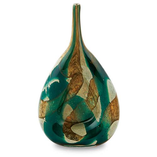 Marble Miniature Flat Centre Vase Malta,Glass Marble Malta, Glass Marble, Mdina Glass