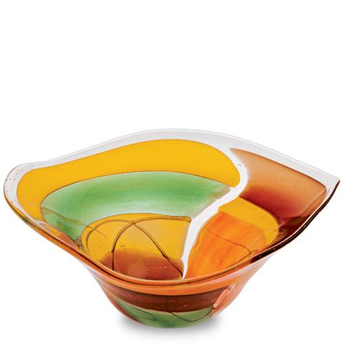 Africa Medium Tri Bowl Malta,Glass Africa Malta, Glass Africa, Mdina Glass