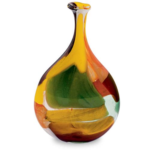 Africa Medium Lollipop Bottle Vase Malta,Glass Africa Malta, Glass Africa, Mdina Glass