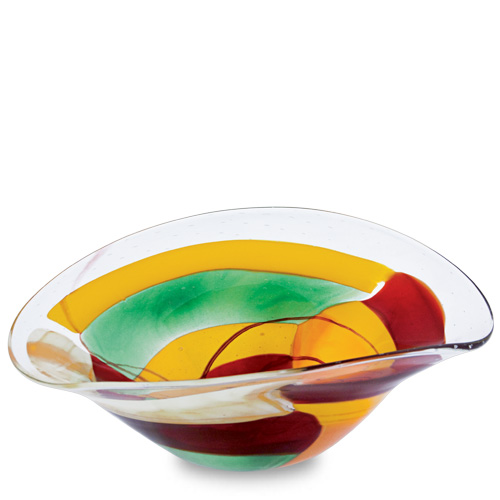 Africa Medium Moon Bowl Malta,Glass Africa Malta, Glass Africa, Mdina Glass