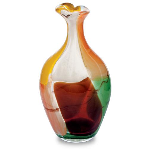 Africa Miniature Flat Barrel Bottle Open Top Malta,Glass Vases Malta, Glass Vases, Mdina Glass