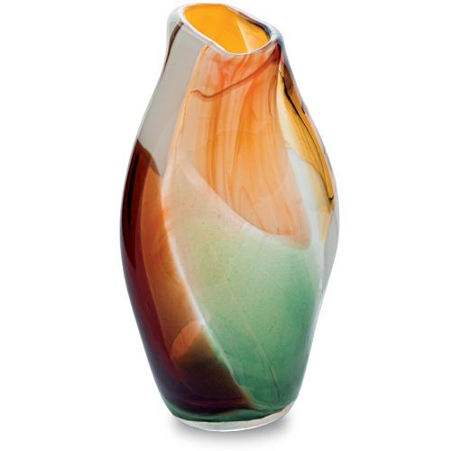 Africa Miniature Tall Double Swirl Vase Malta,Glass Africa Malta, Glass Africa, Mdina Glass