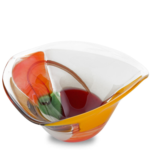 Africa Miniature Tri Bowl Malta,Glass Decorative Bowls Malta, Glass Decorative Bowls, Mdina Glass