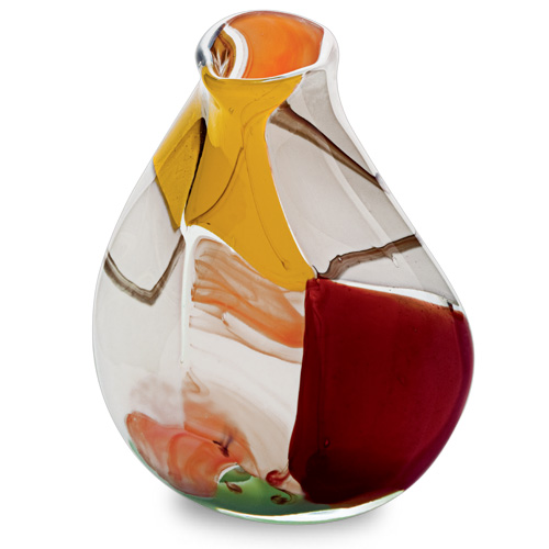 Africa Miniature Double Swirl Vase Malta,Glass Vases Malta, Glass Vases, Mdina Glass