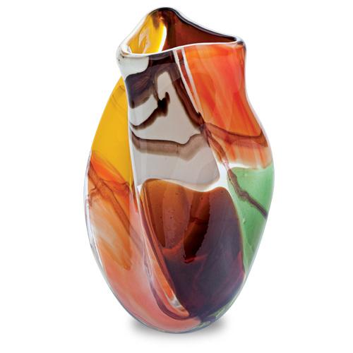 Africa Miniature Triple Swirl Vase Malta,Glass Africa Malta, Glass Africa, Mdina Glass