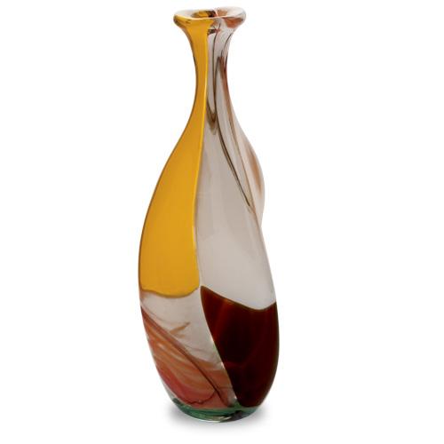 Africa Miniature Triple Swirl Bottle Vase Malta,Glass Africa Malta, Glass Africa, Mdina Glass