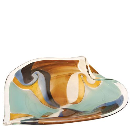 Agape Medium Leaf Bowl Malta,Glass Agape Malta, Glass Agape, Mdina Glass