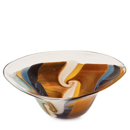 Agape Large Tri Bowl Malta,Glass Agape Malta, Glass Agape, Mdina Glass
