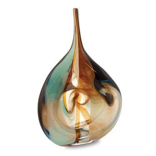 Agape Medium Flat Centre Bottle Twist  Malta,Glass Agape Malta, Glass Agape, Mdina Glass