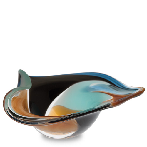 Agape Miniature Leaf Bowl Malta,Glass Decorative Bowls Malta, Glass Decorative Bowls, Mdina Glass