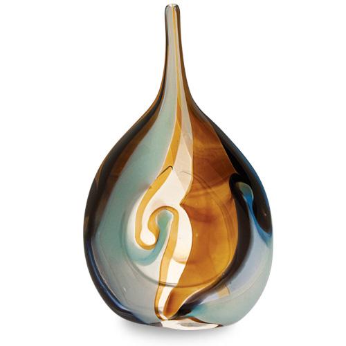 Agape Medium Flat Centre Bottle Vase Malta,Glass Agape Malta, Glass Agape, Mdina Glass
