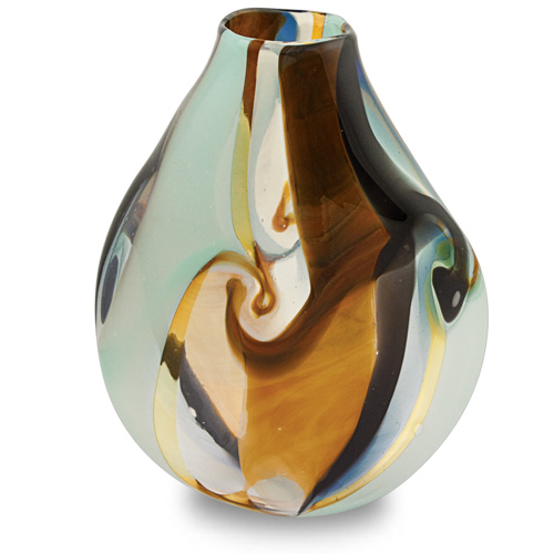 Agape Medium Double Swirl Vase Malta,Glass Agape Malta, Glass Agape, Mdina Glass