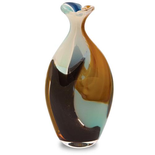 Agape Miniature Flat Barrel Bottle Open Top Malta,Glass Agape Malta, Glass Agape, Mdina Glass