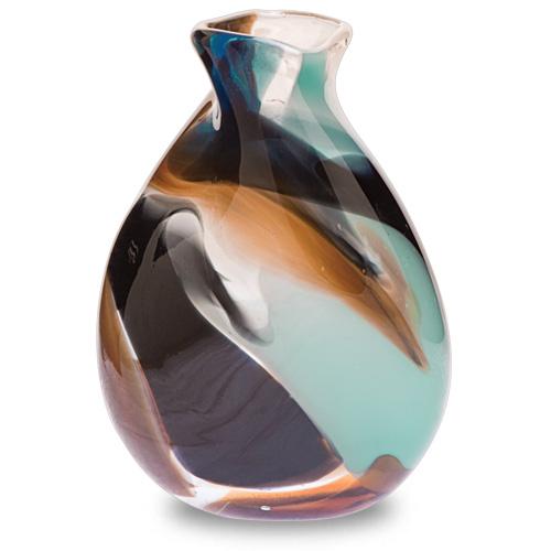Agape Miniature Double Swirl Vase Malta,Glass Agape Malta, Glass Agape, Mdina Glass