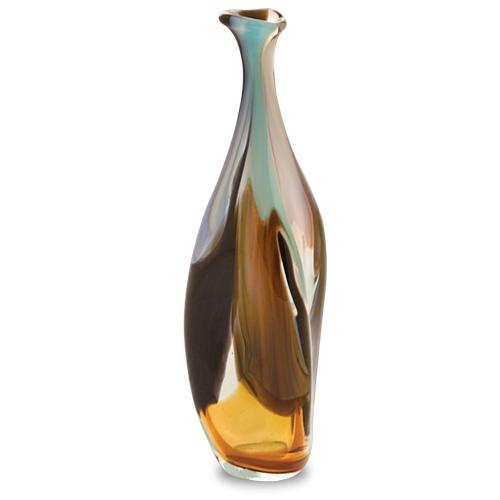 Agape Miniature Triple Swirl Bottle Vase Malta,Glass Agape Malta, Glass Agape, Mdina Glass