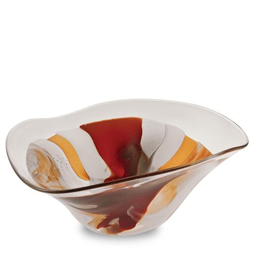 Caspia Medium Tri Bowl Malta,Glass Caspia Malta, Glass Caspia, Mdina Glass