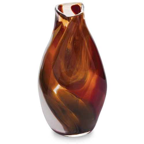 Caspia Miniature Tall Double Swirl Vase Malta,Glass Caspia Malta, Glass Caspia, Mdina Glass