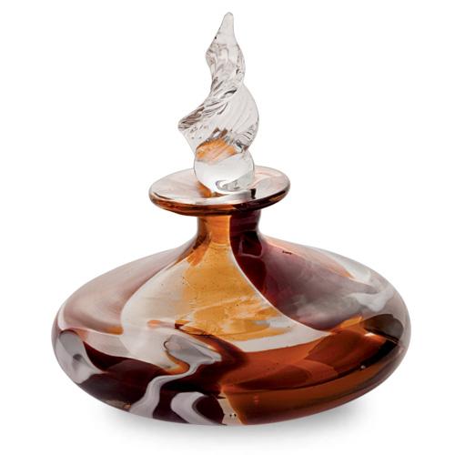 Caspia Miniature Flat MG Perfume Malta,Glass Perfume Bottles Malta, Glass Perfume Bottles, Mdina Glass
