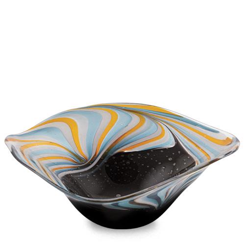 Corvo Large Tri Bowl Malta,Glass Corvo Malta, Glass Corvo, Mdina Glass