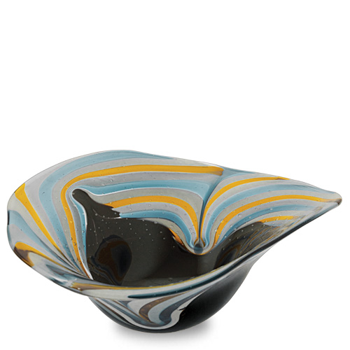 Corvo Medium Moon Bowl Malta,Glass Corvo Malta, Glass Corvo, Mdina Glass